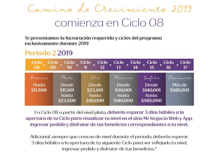 niveles periodo 2 2019